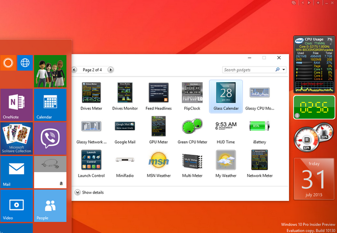 How To Install Desktop Gadgets In Windows 10 - Win7Gadgets Blog