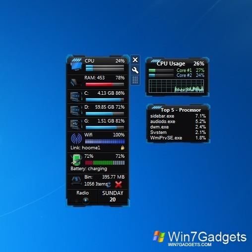 All cpu meter windows 10 gadget win10gadgets.