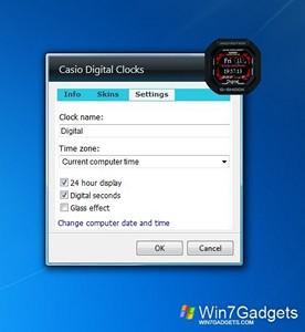 casio digital clocks windows 7 desktop gadget