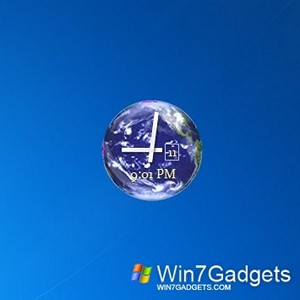 Desktop Planet Clock win 7 gadget