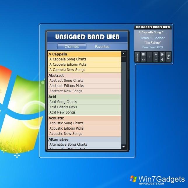 Ubw Radio - Windows 7 Desktop Gadget