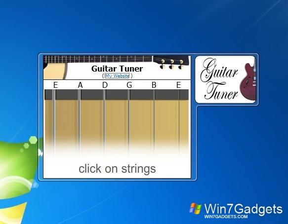guitar tuner windows 7 desktop gadget. Black Bedroom Furniture Sets. Home Design Ideas