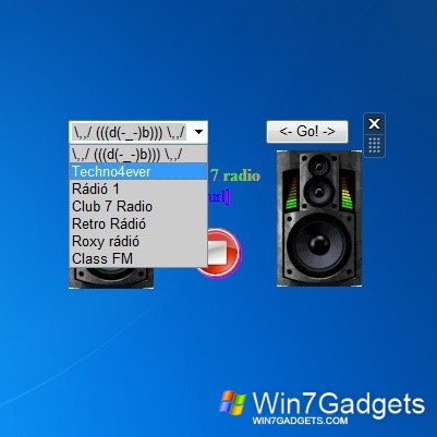 Online Radio - Windows 7 Desktop Gadget