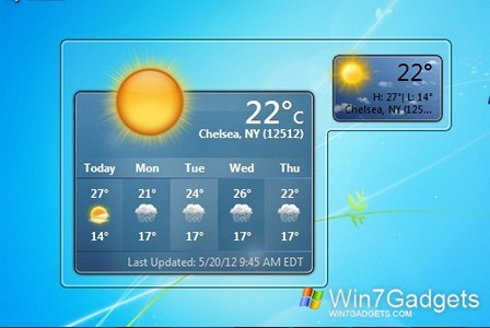 my weather windows 7 desktop gadget. Black Bedroom Furniture Sets. Home Design Ideas