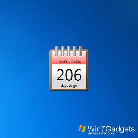 Countdown 2 Date - Windows 7 Desktop Gadget