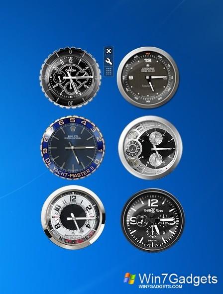 Гаджеты часы, а также разные будильники, секундомеры и таймеры на рабочий стол.