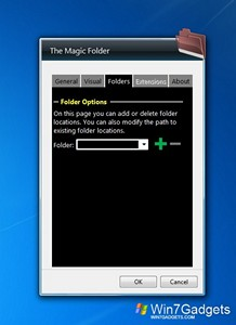 The Magic Folder gadget setup