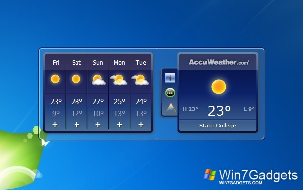 accuweather forecast windows 7 desktop gadget. Black Bedroom Furniture Sets. Home Design Ideas