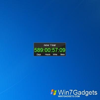 Countdown Windows 7 Gadgets