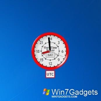 24hr World Clock Windows 7 Desktop Gadget
