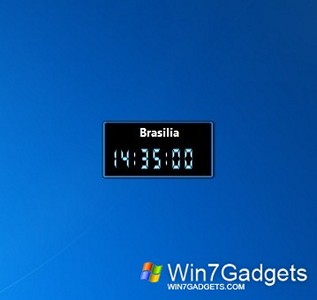 Digital World Clock for Windows 7 Ultimate