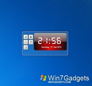 Digital clock win 7 gadget