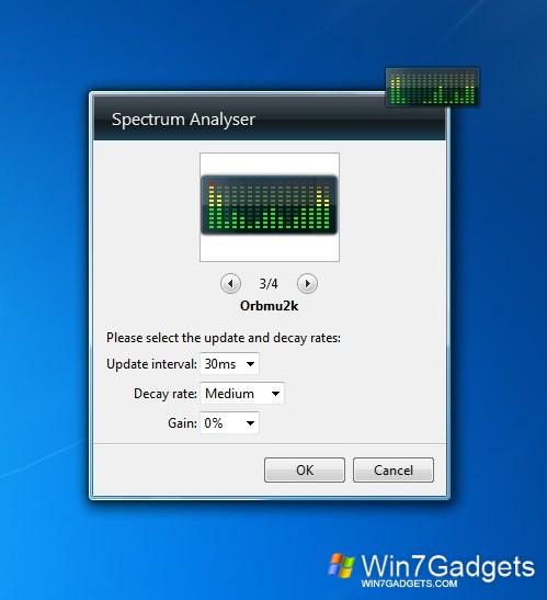 Spectrum Analizer - Windows 7 Desktop Gadget