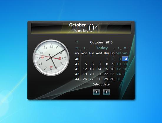 Calendar Planner Desktop Gadget : Date v windows desktop gadget