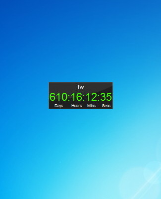 Countdown Clock - Windows 7 Desktop Gadget