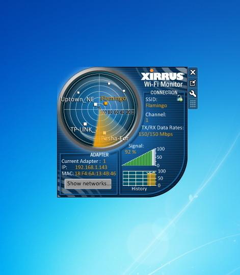 Xirrus Wi-Fi Monitor - Windows 7 Desktop Gadget