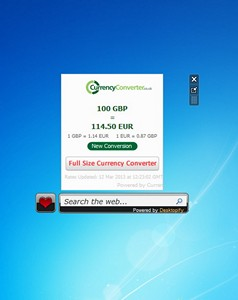 Currency Converter win 7 gadget