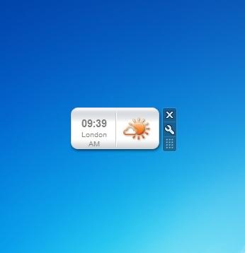 World Clock Windows 7 Desktop Gadget