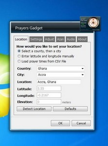 Prayers Gadget 4.0 gadget setup