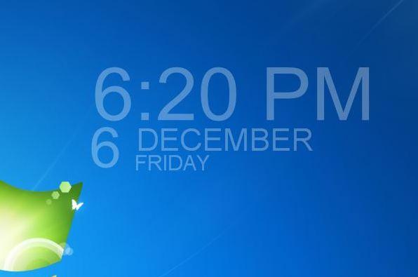 Hud Time Windows 7 Desktop Gadget