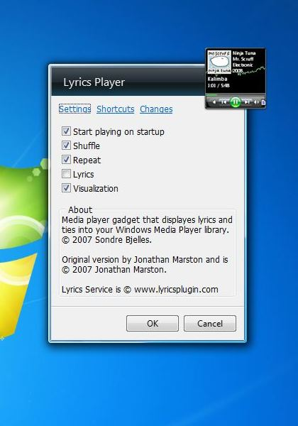 how to play music continuously on window 7