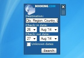Search through Booking.com hotels