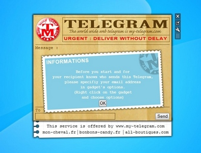 My Telegram gadget