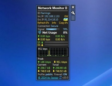 Network Monitor Ii 20 0 Windows 7 Desktop Gadget