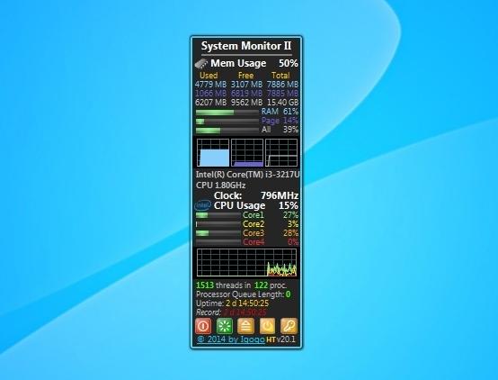 System Monitor Ii Windows 7 Desktop Gadget