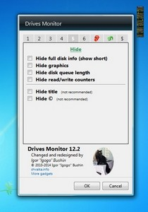 Drives Monitor 12.2 gadget setup