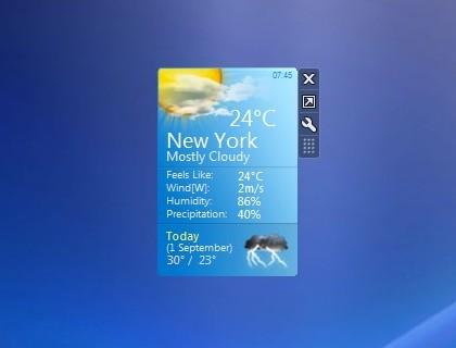 Weather Center - Windows 7 Desktop Gadget