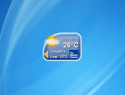 The Weather Channel Sidebar Gadget - Windows 7 Desktop Gadget