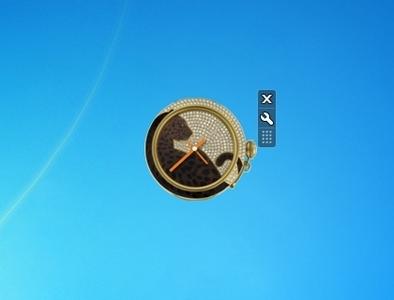 Cartier clock windows 7 desktop gadget