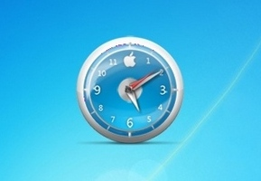 Apple Clock Blue Classic