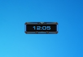 Space Clock Blue