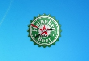 Heineken Beer Clock