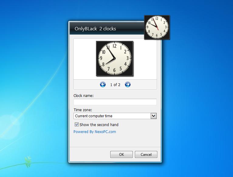 Скачать и настроить бесплатный гаджет часы — pricedown clock.