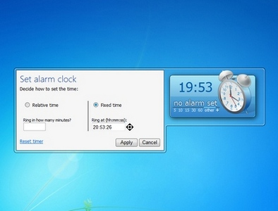 Alarm Clock 2 win 7 gadget