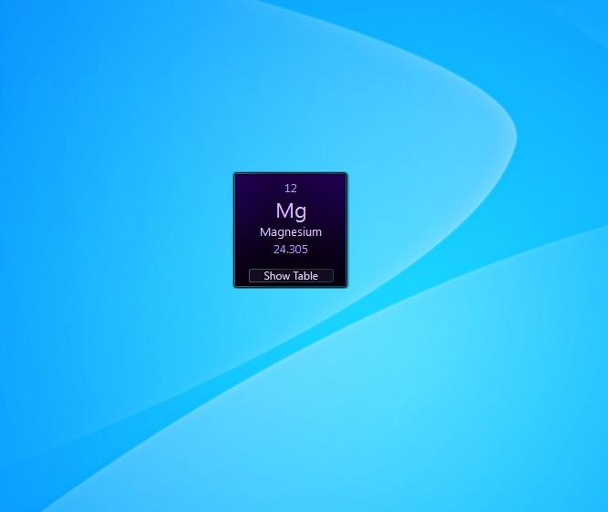 Periodic table windows 7 desktop gadget periodic table periodic table gadget urtaz Images