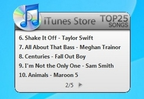 iTunes Top 25 Songs
