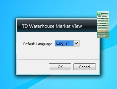TD Waterhouse Market View settings