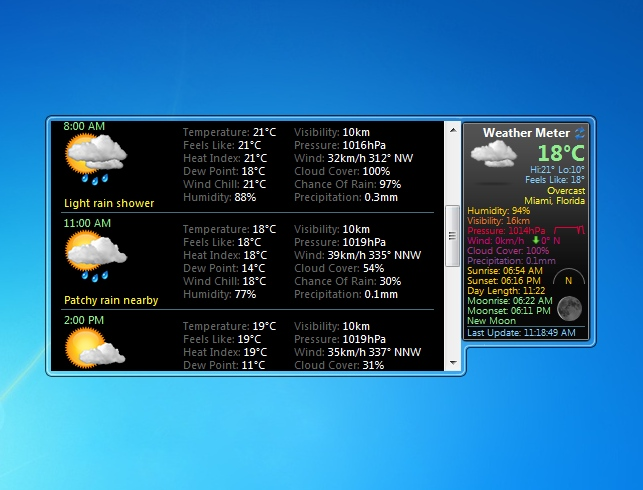weather meter windows 7 desktop gadget. Black Bedroom Furniture Sets. Home Design Ideas