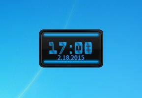 Virus Blue Digital Clock
