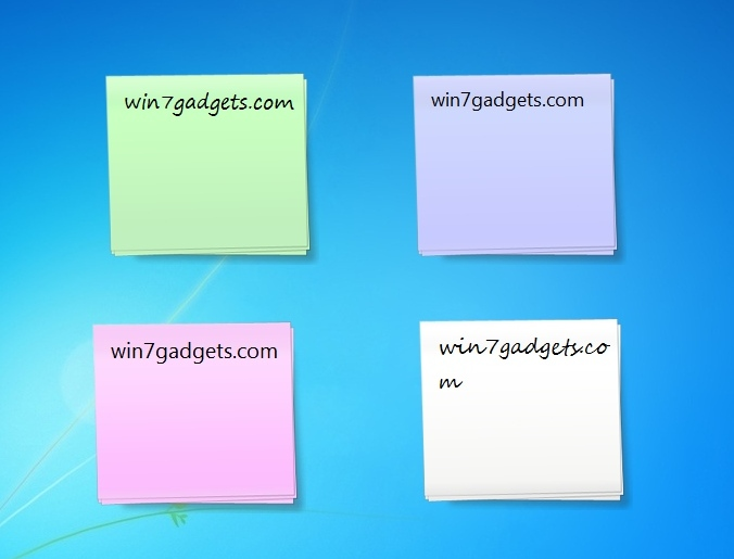 sticky notes windows 7 desktop gadget. Black Bedroom Furniture Sets. Home Design Ideas