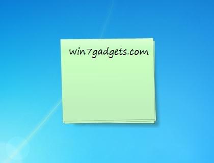 notes desktop windows 7