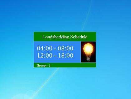 Nepal Loadshedding Schedule Windows 7 Desktop Gadget