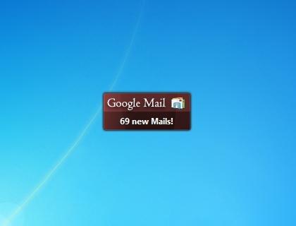google mail windows 7 desktop gadget