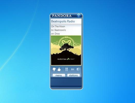 pandora gadget windows 7 64