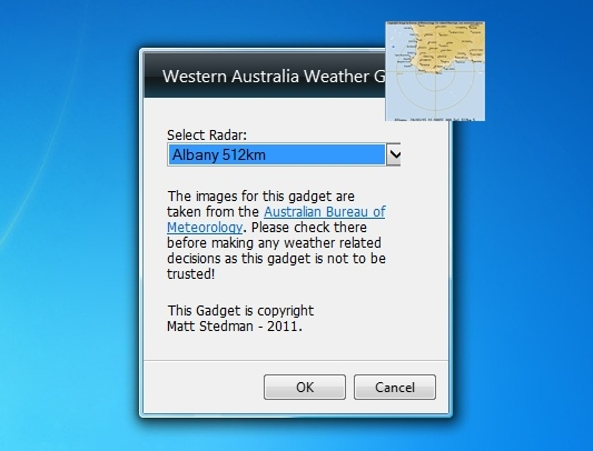 western australia weather gadget windows 7 desktop gadget. Black Bedroom Furniture Sets. Home Design Ideas