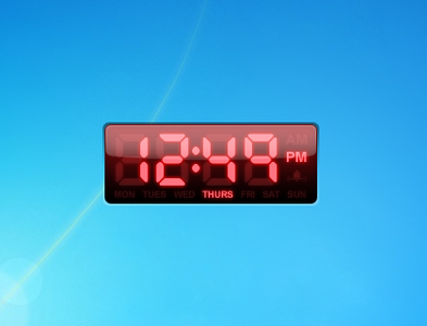 Yahoo Engine digital clock